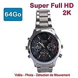 Cyber Express Electronics - Armbanduhr Mini Kamera Espion 64GB 2K Super Full HD 2304x1296p Bewegungsmelder CEL-DWF-74S-64