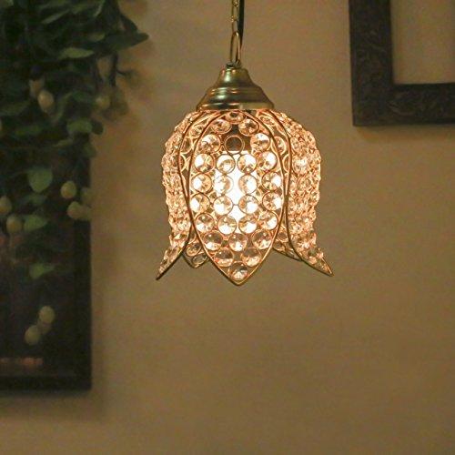 Crystal Hanging Lotus Pendant