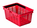 Durable - Cestino per la spesa, 6 pz, colore: Rosso
