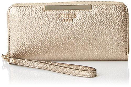 Guess Damen Slg Wallet Geldbörse, Mehrfarbig (Pale Bronze), 2x10x21 centimeters (Geldbörse Bronze Damen)