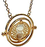 "COLLANA HERMIONE GIRATEMPO CON CLESSIDRA HARRY POTTER TIME TURNER GREVOLE TIME: ""I MARK THE HOURS EVERY ONE NOR HAVE I YET OUTRUN HE SUN MY USE AND VALUE UNTO YOU ARE GAUGED BY WHAT YOU HAVE TO DO"""