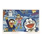 #10: Happy GiftMart Fun Doraemon 60 Pieces Wooden Jigsaw Puzzle Multicolor Cartoon Puzzle for Kid 22.5 cm x 13.8 cm