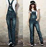 Tomatoa Frauen Latzhose Jumpsuit Elegant Lang Jeans Damen Overall Mädchen Hosen Casual Overall Playsuit Straight Leg Stretch Denim Reizvolle Bodycon Röhrenjeans S - XXL