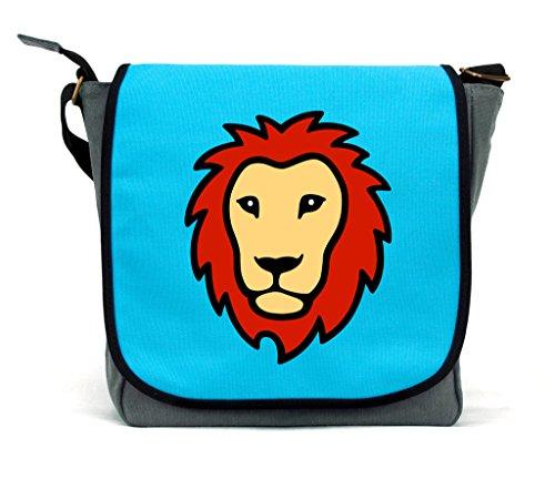 Kinderhandtasche, blau (blau) - PPLNMG-BU (Lion Paw Prints)