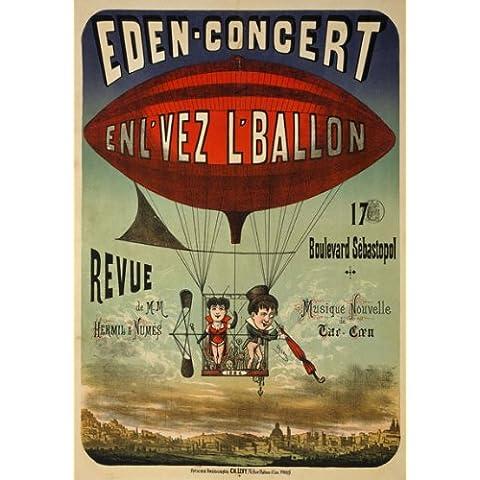 AV51 samfme 1884 circo francés re-Impresión del cartel del anuncio del globo - 3 tamaños diferentes a elegir A3/a2/A1, A4 (297 x 210mm) 11.7