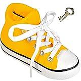 alles-meine.de GmbH 3-D Effekt _ Spardose -  Schuh Sneaker / Sportschuh - Schuh - Gelb  - Incl. ..