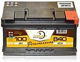 Autobatterie 12V/100 Ah - 840 A/EN 60036 Adler ers 75 77 80 85 90 92 95 105 Ah