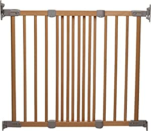 BabyDan Super Flexi Fit Extending Wooden Safety Gate (Beech/Silver)