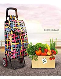 KV Creation| Shopping Trolley | Foldable Shopping Trolley Bag/Supermarket Foldable Shopping Trolly Bag (Colour May be Very/Random Color/Prints) Made in India | Attractive in Design | Kitchen Storage