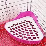 TREESTAR 1Stk Haustier Toilette Haustier Potty Pet WC Töpfchen Kleine Haustiertoilette Ecktoilette für Nager,für Kaninchen,Katzen,Hamster,Frettchen,Kleintiere oder andere kleine Tiere