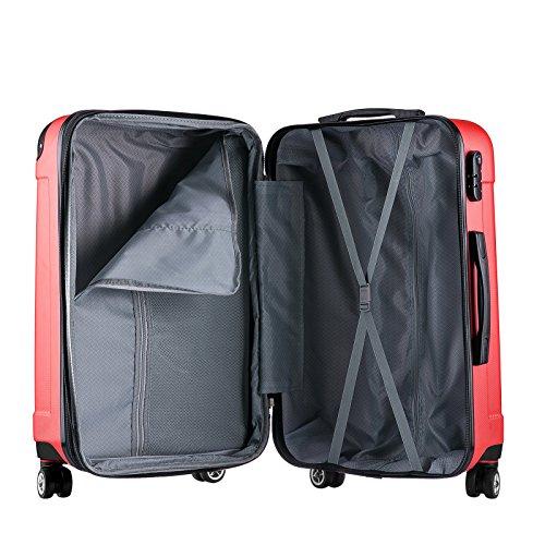WOLTU RK4201bl, Reise Koffer Trolley Hartschale Volumen erweiterbar, Reisekoffer Hartschalenkoffer 4 Rollen, M/L/XL/Set, leicht und günstig, Blau (M, 55 cm & 42 Liter) - 6