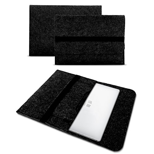 UC-Express Sleeve Hülle für Toshiba Tecra X40-D Tasche Filz Notebook Cover 14' Laptop Case, Farbe:Dunkel Grau
