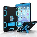 DENDICO Case for Apple iPad Air 2, Hard PC & Soft Silicone Bumper