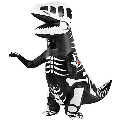 FTVOGUE Traje de baño Inflable del Traje del Traje Inflable del Tyrannosaurus del Dinosaurio Adulto para Halloweens