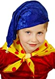 World Book Day-Character TOYTOWN BOY - BLUE HAT with BELL & SPOTTY NECK SCARF - Fancy Dress Accessory Set