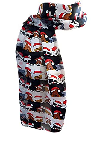 New Company Womens Dogs & Cats Santa Scarf Ð Red
