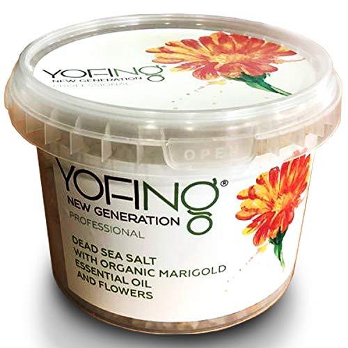 YOFING - Dead Sea Salt - Unique Bath Salt with Organic Marigold - 500gr