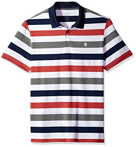 IZOD Men's Performance Golf Polo, Red, Large