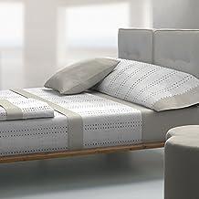 Tolrà T0941 - Juego de sabanas 3 piezas de franela 100% algodón para cama de 105, color beige