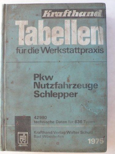 Tabellen für die Werkstattpraxis - PKW Nutzfahrzeuge Schlepper 1975