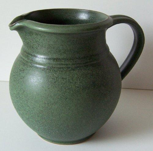 Töpferei Annett Fischer MK4 Milchkrug grün handgetöpfert Milchkrug Keramik Höhe 17 cm Volumen ca. 1400 ml