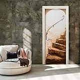 murando Le papier peint autoadhésif pour portes 80x210 cm Trompe l oeil porte Papier peint Image Papier peint pour portes Poster Autocollant Image Design escalier marron d-B-0115-a-d