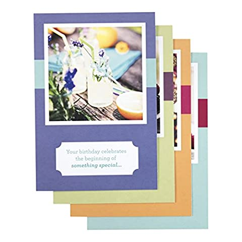 DaySpring Birthday Boxed Greeting Cards w Embossed Envelopes - God Made You Unique, 12-Count,