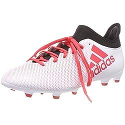 Adidas X 17.3 FG, Botas de fútbol para Hombre, Blanco (Ftwbla/Correa/Negbás 000), 44 EU