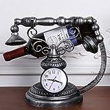 LCTCJJ Estantería de decoración Creativa Retro Adornos de Hierro Forjado Reloj Rack de Botellas Simple (Color : La Plata)