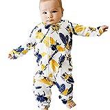 Yazidan Unisex Baby Winter Strampler-Set Kleinkind-Baby-langärmeliges Karikatur-Insekten-Reißverschluss-Spielanzug-Neugeborenen Overall-Kleidung\\n