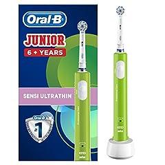 Idea Regalo - Oral-B Spazzolino Elettrico Ricaricabile Junior Da 6 Anni, Verde