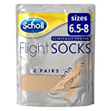Scholl Flight Socks, 2 Sheer Pairs, Size 6.5-8