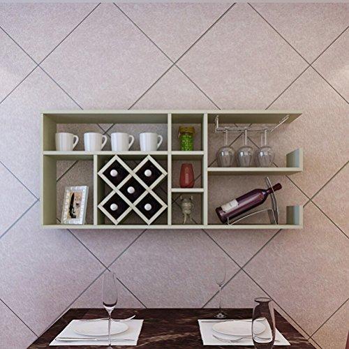 DSC Regal Restaurant Hängende Weinregal Weinschrank Hängende Weinregal Wand Weingitter Küche Regal ( Farbe : C ) (Draht-wand Weinregal)