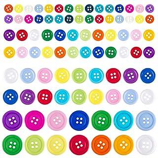 ANPHSIN 1100 Pcs Knöpfe, Kunstharzknöpfe, kinderknöpfe, Holzknöpfe, Bunte Knöpfe zum Basteln, Nähen, Scrapbooking, DIY handgemachte Dekorationen