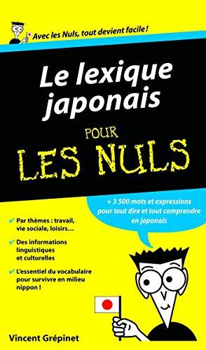 Lexique Japonais Pour les Nuls par  Vincent GREPINET