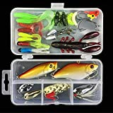Proberos® Fishing Lure Kits 28pcs Fishing Lure Set Fishing Baits Kit with Fishing Tackle Box Including Spoons Swimbaits Crankbaits Spinnerbaits Artificial Lures for Freshwater Saltwater Fishing #2