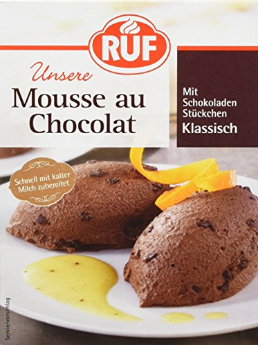 RUF Mousse Au Chocolat ohne Kochen, 12er Pack (12 x 100 g Packung)