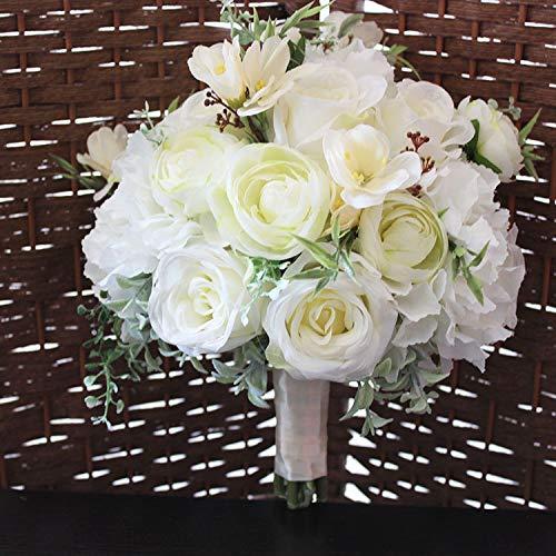 Luckyzc Artificial Mano Floral Ramo Foto Estudio Foto Modelo habitación diseño Floral Blanco
