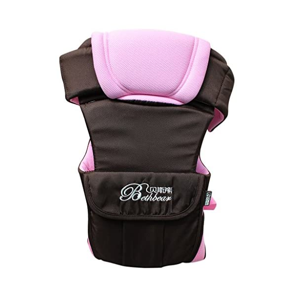 Vine Adjustable 4 Positions Baby Carrier 3D Backpack Pouch Bag Infant Wrap Soft Structured Ergonomic Sling Front Back Pink Vine 4 carrying position modes: Chest way, kangaroo style, back carry, cross arm carry Wide padded straps for the relief of Baby's weight, helps prevent back ache Adjustable shoulder belt, double-protection safety buckle lock, 3D ventilating back pad 4