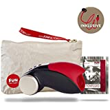 Fun Factory COBRA LIBRE V2 Akku, schwarz/rot, Masturbator, Männervibrator (Set inkl. tollen Zubehör) Eichelstimulator, inkl. USB-Ladekabel