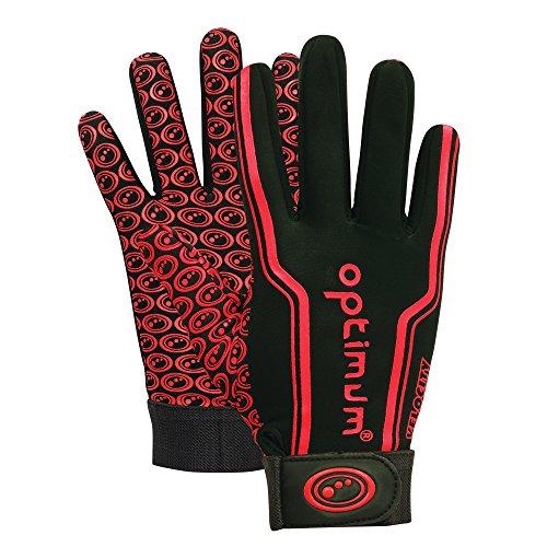 Optimum Velocity Langfingerhandschuh Jungen, Schwarz (schwarz/red), Gr. 6-7 Inch (Herstellergröße: Large Boys ) (Jungen-rugby)