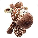 Originaltree Tiere Handpuppe Plüsch Affe Krokodil Hippopotamus Lion Gefüllte Vorschule Spielzeug für Kinder Weihnachtsgeschenk (Giraffe)