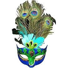 Eizur Masquerade Maschera Aristocratico piuma del Pavone