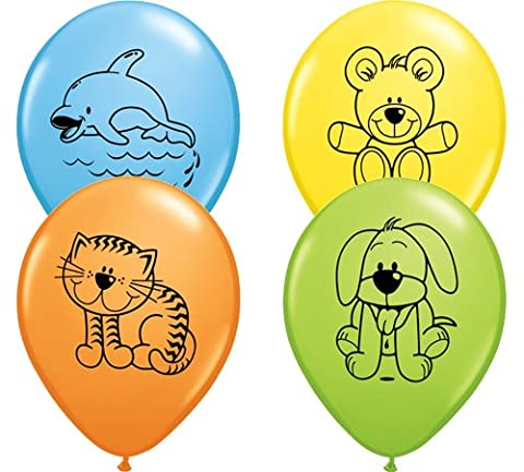 sortiert anschmiegsam Pets 27,9cm Latex Ballons