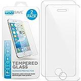 Yousave Accessories iPhone SE / 5S / 5C / 5 2 - Pack Panzerglas Kristallklare Gehärtete Glas Schutzfolie (Ultradünn 0,3mm / 9H Härtegrad) 3D Touch Kompatibel - Doppelpack