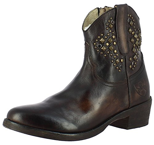 Saint G Women's Brown Leather Ankle Boot (ab-24)