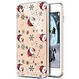 Kompatibel mit Hülle iPhone 6S Plus/6 Plus Hülle,Durchsichtig Xmas Christmas Weihnachten Schneeflocke Klar TPU Silikon Handyhülle Schutzhülle für iPhone 6S Plus/6 Plus,Weihnachtsmann Schneeflocke