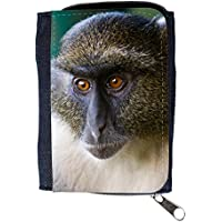 Denim Wallet with Coin Purse // V00003899 sykes monkey mount kenya // Purse Wallet