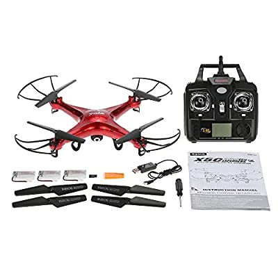 GoolRC Syma X5C Drone Remote Control RC Quadcopter 2.0MP HD Camera Drone with GoolRC Nylon Handbag & Two Extra Batteries