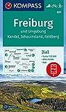 Freiburg und Umgebung, Kandel, Schauinsland, Feldberg: 3in1 Wanderkarte 1:25000 mit Aktiv Guide inklusive Karte zur offline Verwendung in der ... (KOMPASS-Wanderkarten, Band 889) -